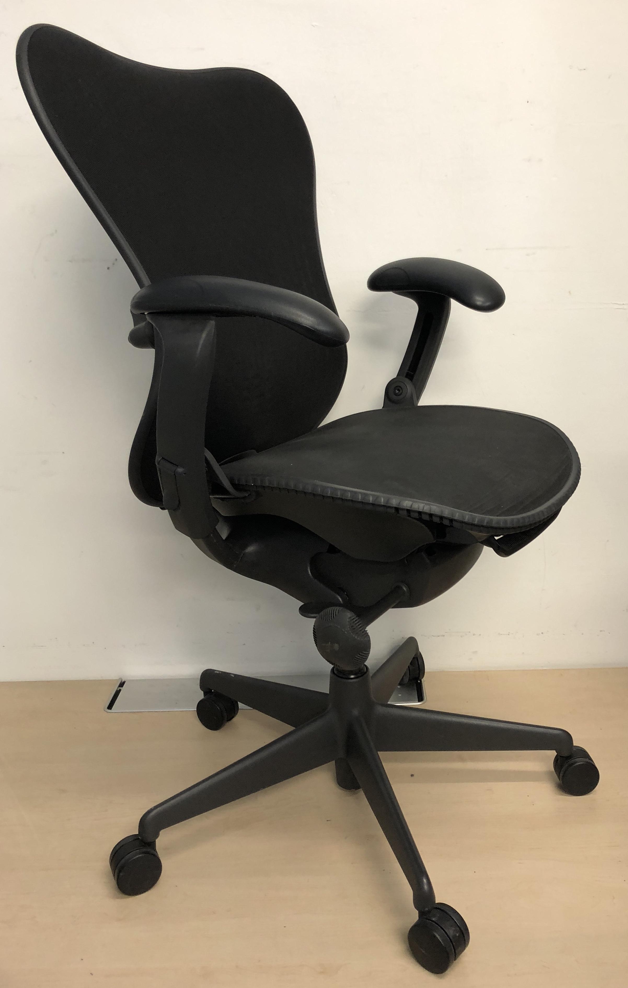 Herman Miller Black Mirra Single Lever Office Chair