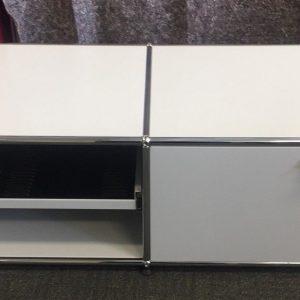 USM Haller Light Grey Modular Shelving U0026 Low Storage TV Music Cabinet 500mm