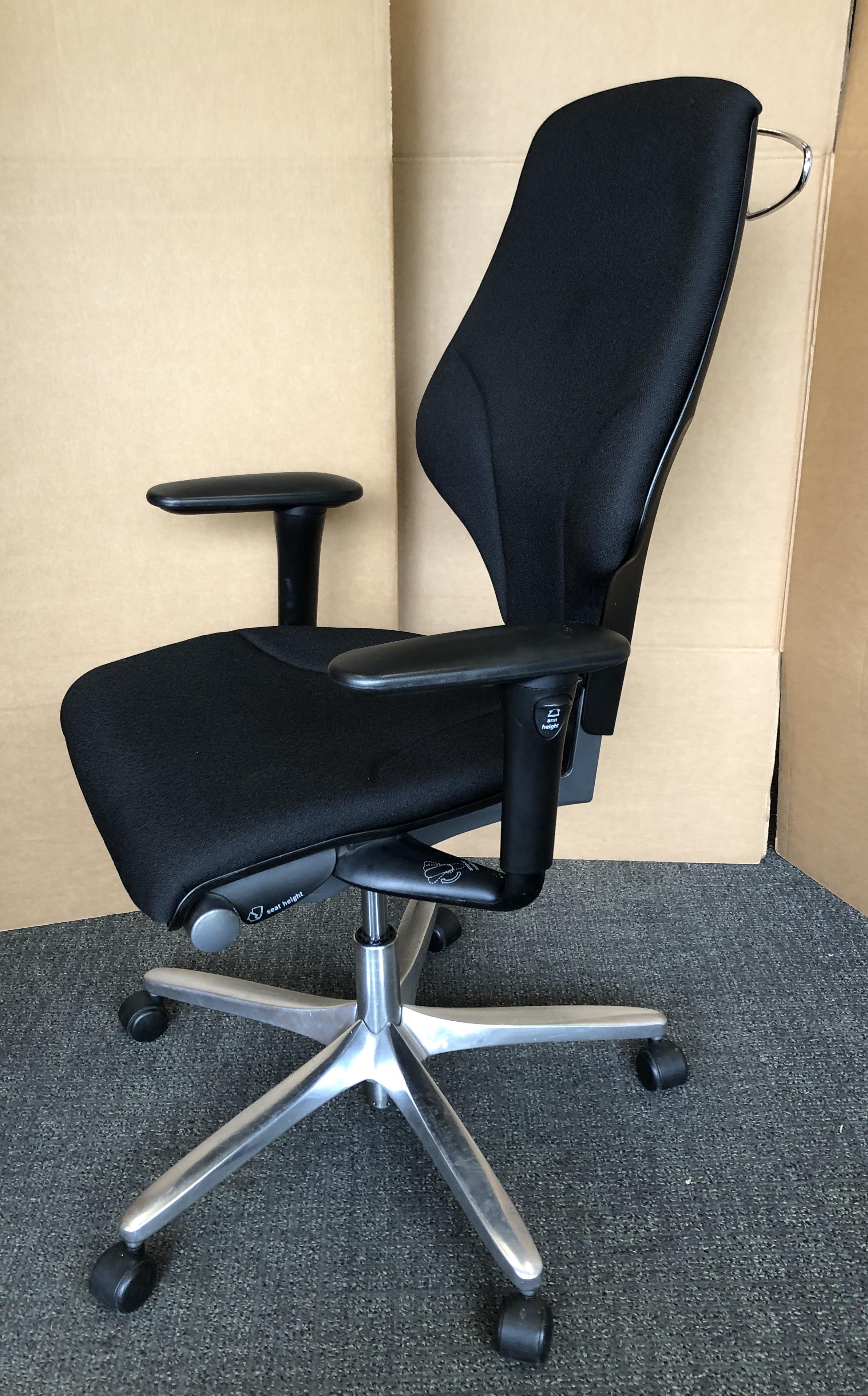 Giroflex G64 New Black Fabric Ergonomic Swivel Office